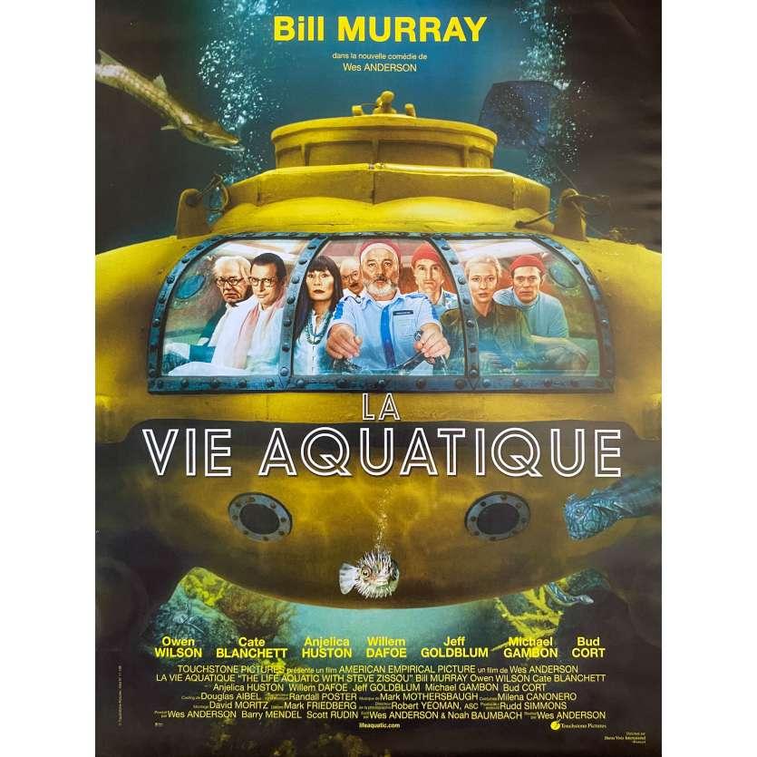LA VIE AQUATIQUE Affiche de film- 40x60 cm. - 2004 - Bill Murray, Wes Anderson