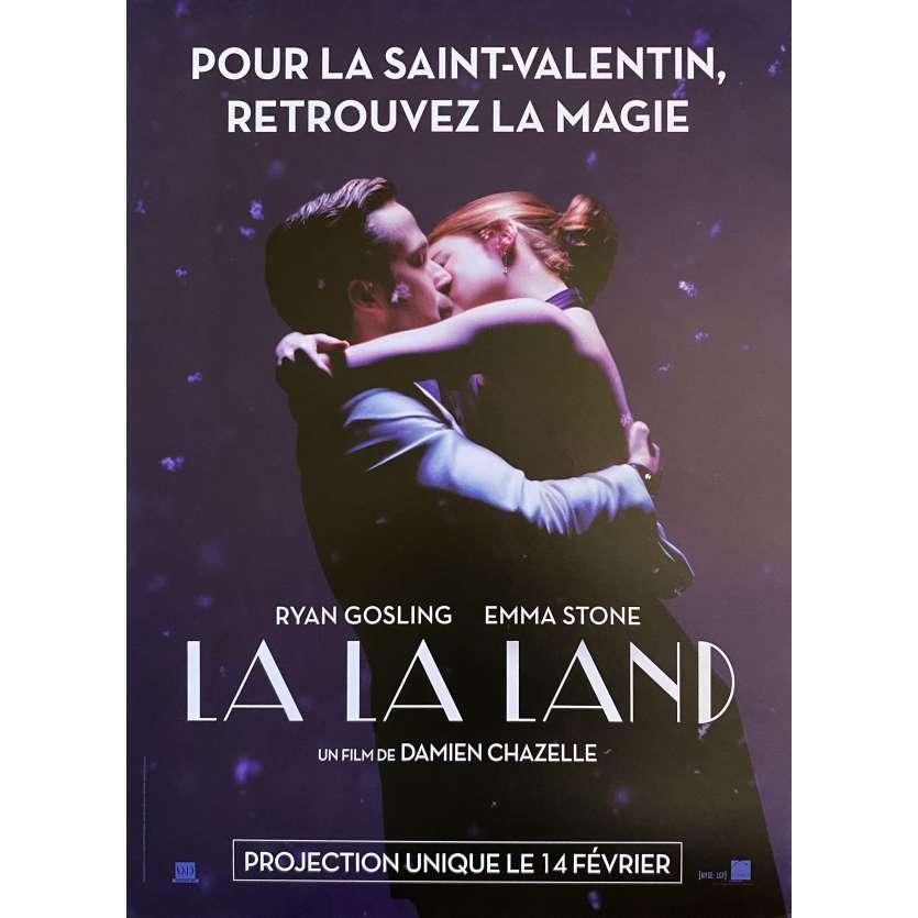 LA LA LAND Affiche de film St Valentin - 40x60 cm. - 2017 - Ryan Gosling, Damien Chazelle