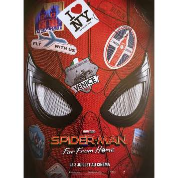 SPIDER-MAN FAR FROM HOME Original Movie Poster Voyage Style - 15x21 in. - 2019 - Jon Watts, Tom Holland