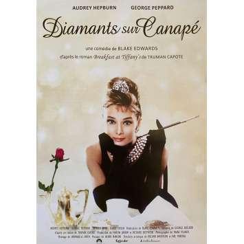 DIAMANTS SUR CANAPE Affiche de film- 40x60 cm. - R2000 - Audrey Hepburn, Blake Edwards