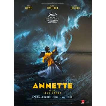 ANNETTE Original Movie Poster- 15x21 in. - 2021 - Leos Carax, Adam Driver