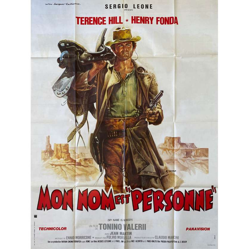 MY NAME IS NOBODY French one-panel movie poster - 1974 - Terence Hill