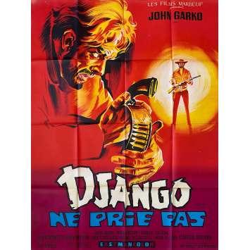 DJANGO NE PRIE PAS Affiche de film- 120x160 cm. - 1969 - Gianni Garko, Mario Siciliano
