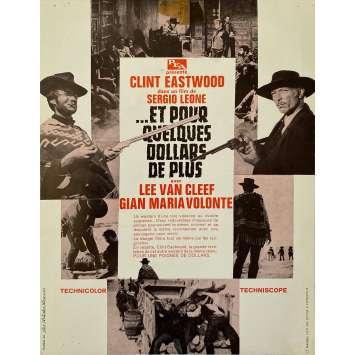 ET POUR QUELQUES DOLLARS DE PLUS Synopsis- 21x30 cm. - 1965 - Clint Eastwood, Sergio Leone