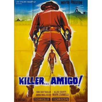 HEY AMIGO! A TOAST TO YOUR DEATH! Original Movie Poster LITHO - 47x63 in. - 1970 - Paolo Bianchini, Wayde Preston