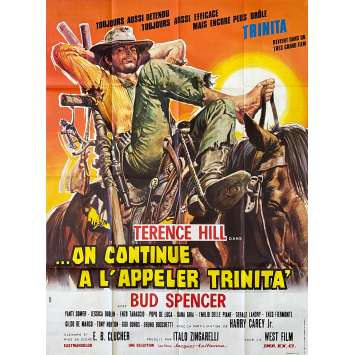 TRINITY IS STILL MY NAME Original Movie Poster- 47x63 in. - 1971 - Enzo Barboni, Terence Hill, Bud Spencer