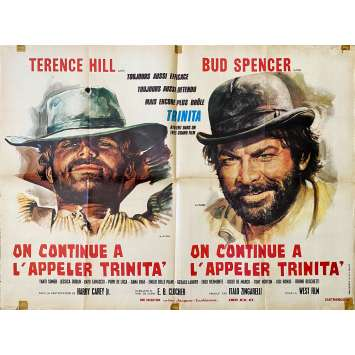 TRINITY IS STILL MY NAME Original Movie Poster Style B - 23x32 in. - 1971 - Enzo Barboni, Terence Hill, Bud Spencer