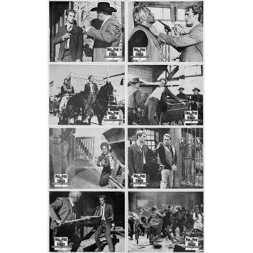 SHARP SHOOTING TWIN SISTERS Original Lobby Cards x8 - 9x12 in. - 1966 - Rafael Romero Marchent, Pilar Bayona, Emilia Bayona