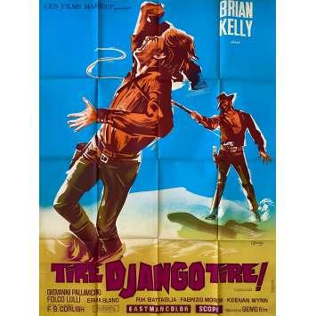TIRE DJANGO TIRE Affiche de film LITHO - 120x160 cm. - 1967 - Tomas Milian, Giulio Questi