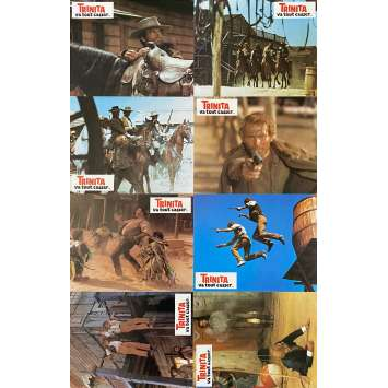 BOOT HILL Original Lobby Cards x8 - 9x12 in. - 1969 - Giuseppe Colizzi, Bud Spencer, Terence Hill