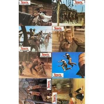TRINITA VA TOUT CASSER Photos de film x8 - 21x30 cm. - 1969 - Bud Spencer, Terence Hill, Giuseppe Colizzi
