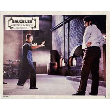 THE WAY OF THE DRAGON Original Lobby Card N01 - 9x12 in. - 1974 - Bruce Lee, Chuck Norris