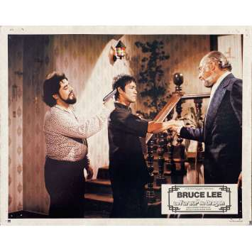 THE WAY OF THE DRAGON Original Lobby Card N04 - 9x12 in. - 1974 - Bruce Lee, Chuck Norris