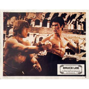 THE WAY OF THE DRAGON Original Lobby Card N10 - 9x12 in. - 1974 - Bruce Lee, Chuck Norris