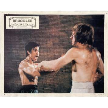 THE WAY OF THE DRAGON Original Lobby Card N11 - 9x12 in. - 1974 - Bruce Lee, Chuck Norris