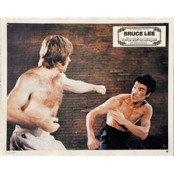THE WAY OF THE DRAGON Original Lobby Card N12 - 9x12 in. - 1974 - Bruce Lee, Chuck Norris