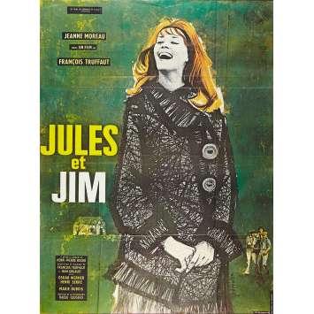 JULES ET JIM Affiche de film120x160 cm - 1962/R1970 - Jeanne Moreau, François Truffaut