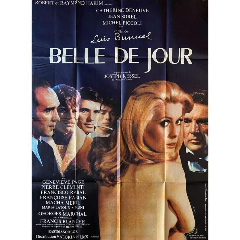BELLE DE JOUR Original Movie Poster- 47x63 in. - 1967 - Luis Bunuel, Catherine Deneuve