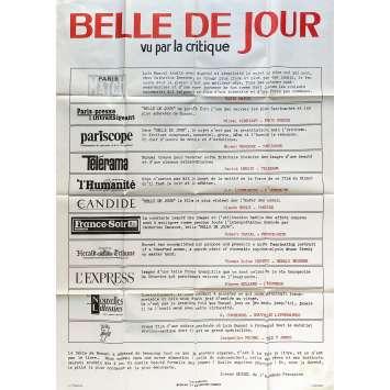 BELLE DE JOUR Affiche de film Review - 120x160 cm. - 1967 - Catherine Deneuve, Luis Bunuel