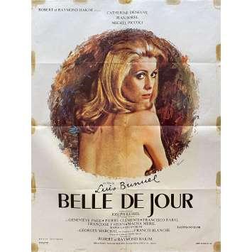 BELLE DE JOUR Original Movie Poster- 23x32 in. - 1967 - Luis Bunuel, Catherine Deneuve