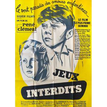 FORBIDDEN GAMES Original Movie Poster- 47x63 in. - R1950 - René Clément, Brigitte Fossey