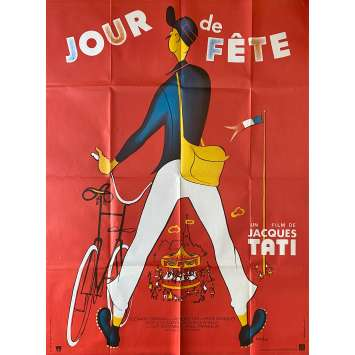 JOUR DE FETE Original Movie Poster- 47x63 in. - R1970 - Jacques Tati, Paul Frankeur