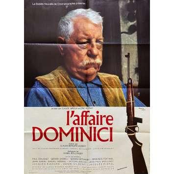 L'AFFAIRE DOMINICI Affiche de film- 60x80 cm. - 1973 - Jean Gabin, Victor Lanoux, Claude Bernard-Aubert
