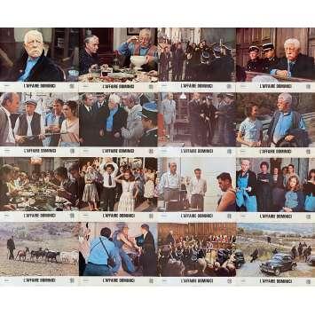 THE DOMINICI AFFAIR Original Lobby Cards x16 - 10x12 in. - 1973 - Claude Bernard-Aubert, Jean Gabin, Victor Lanoux