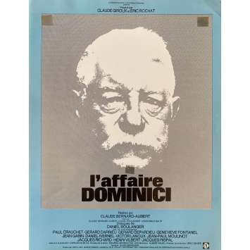 THE DOMINICI AFFAIR Original Herald- 10x12 in. - 1973 - Claude Bernard-Aubert, Jean Gabin, Victor Lanoux