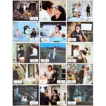 THE BEAR AND THE DOLL Original Lobby Cards x15 - 10x12 in. - 1970 - Michel Deville, Brigitte Bardot, Jean-Pierre Cassel