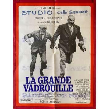 LA GRANDE VADROUILLE Original Movie Poster- 23x32 in. - 1966 - Gerard Oury, Bourvil, Louis de Funes