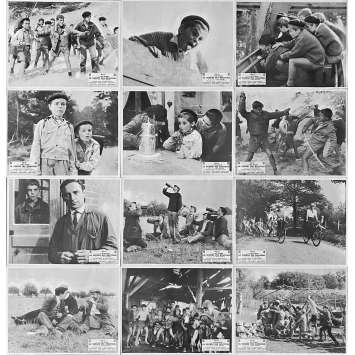 WAR OF THE BUTTONS Original Lobby Cards x24 - 10x12 in. - 1962 - Yves Robert, Jacques Dufilho