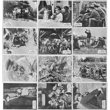 WAR OF THE BUTTONS Original Lobby Cards Set B - x12 - 10x12 in. - 1962 - Yves Robert, Jacques Dufilho