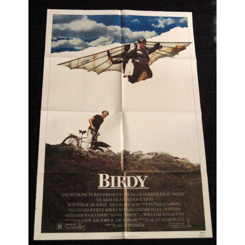 BIRDY Affiche US '85 Alan Parker, Nicolas Cage Vintage Movie Poster