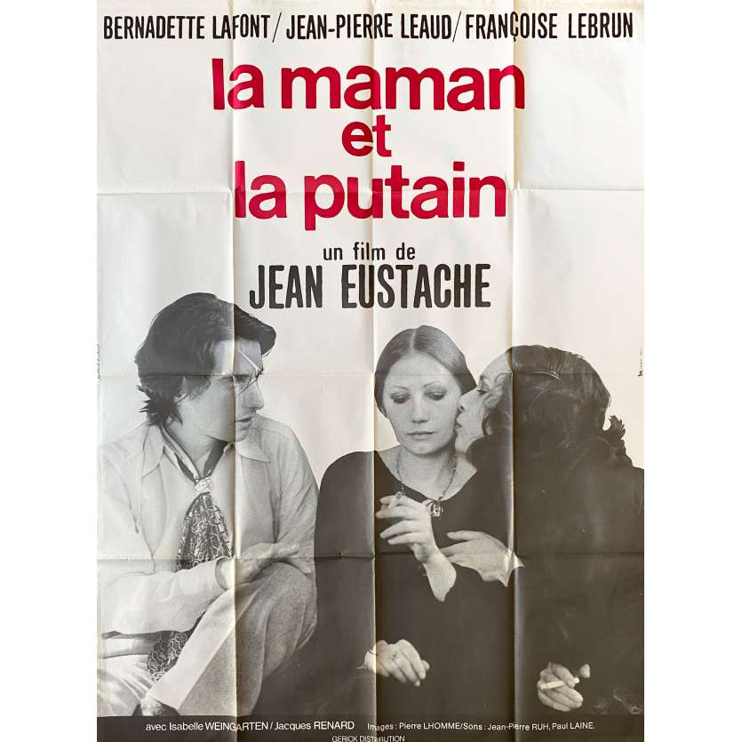 THE MOTHER AND THE WHORE Original Movie Poster- 47x63 in. - 1973 - Jean Eustache, Jean-Pierre Léaud