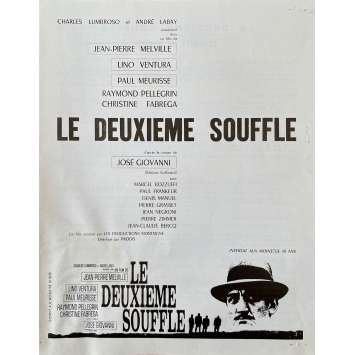 SECOND BREATH Original Pressbook 4p - 9x12 in. - 1966 - Jean-Pierre Melville, Lino Ventura