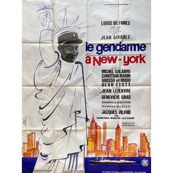 LE GENDARME A NEW YORK Original Movie Poster- 47x63 in. - 1965 - Jean Girault, Louis de Funès