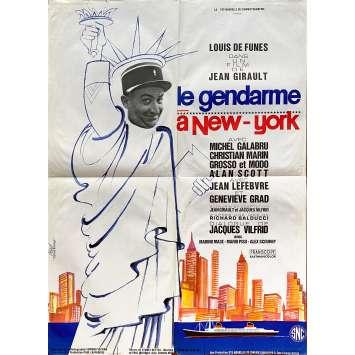 LE GENDARME A NEW YORK Original Movie Poster- 23x32 in. - 1965 - Jean Girault, Louis de Funès