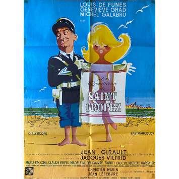 THE TROOPS OF ST TROPEZ Original Movie Poster- 23x32 in. - 1964 - Jean Girault, Louis de Funès