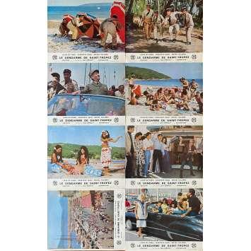 THE TROOPS OF ST TROPEZ Original Lobby Cards x16 - 10x12 in. - 1964 - Jean Girault, Louis de Funès