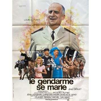 LE GENDARME SE MARIE Affiche de film- 120x160 cm. - 1968 - Louis de Funès, Jean Girault