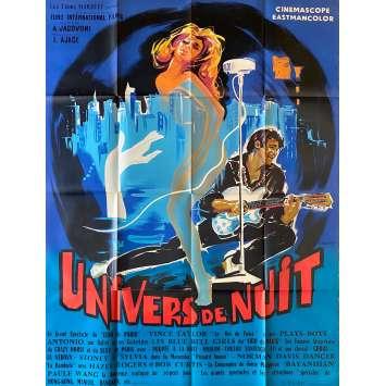UNIVERS DE NUIT Affiche de film Litho - 120x160 cm. - 1962 - Vince Taylor, Alessandro Jacovoni