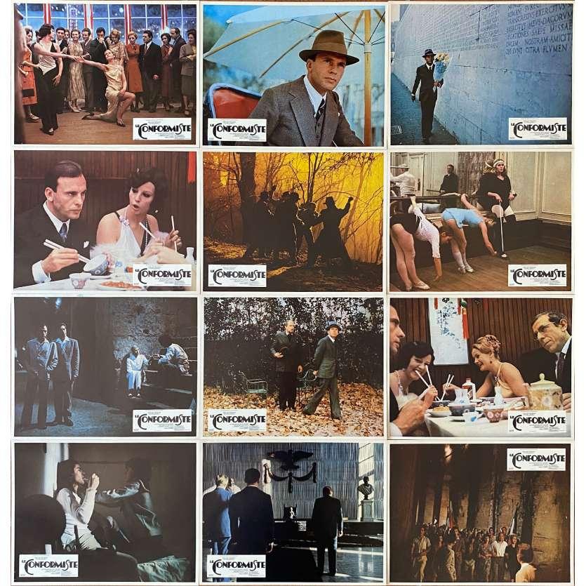 THE CONFORMIST Vintage Lobby Cards Set - 9x12 in. - Jean-Louis Trintignant, Bertolucci