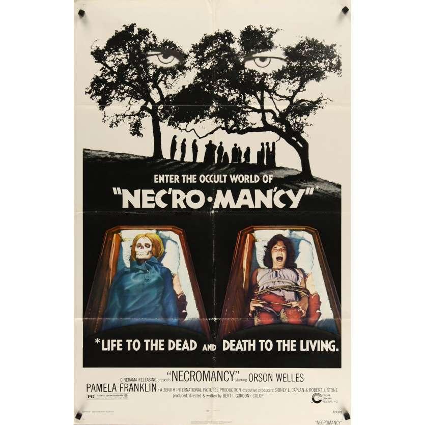 NECROMANCY US 1sh Movie Poster - 1972 - Orson Welles
