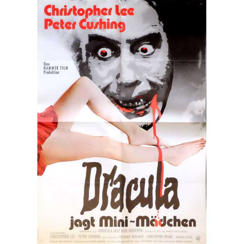 DRACULA A.D. 1972 German Movie Poster47x63 - 1972 - Alan Gibson, Christopher Lee