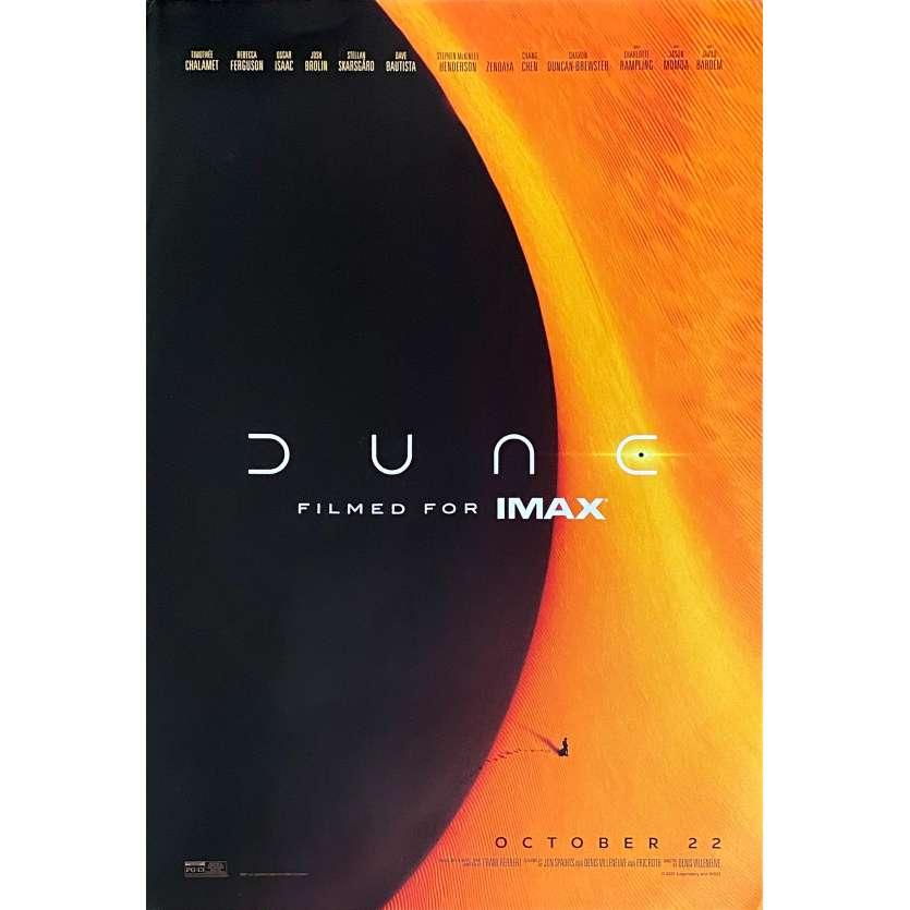 DUNE Affiche de film Imax - 33x50 cm - Denis Villeneuve, Timothée Chalamet