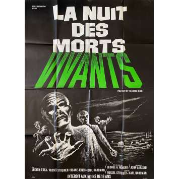 LA NUIT DES MORTS VIVANTS Affiche de film- 120x160 cm. - 1968 - Duane Jones, George A. Romero