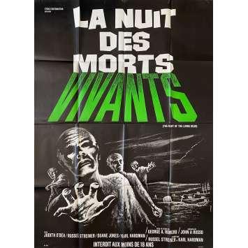 NIGHT OF THE LIVING DEAD Original Movie Poster- 47x63 in. - 1968 - George A. Romero, Duane Jones