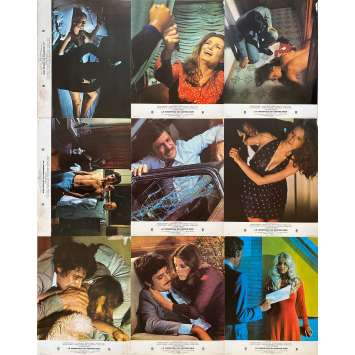 BLACK BELLY OF THE TARANTULA Original Lobby Cards Set A - x9 - 9x12 in. - 1971 - Claudine Auger