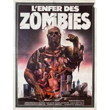 L'ENFER DES ZOMBIES Affiche de film- 40x60 cm. - 1979 - Tisa Farrow, Lucio Fulci